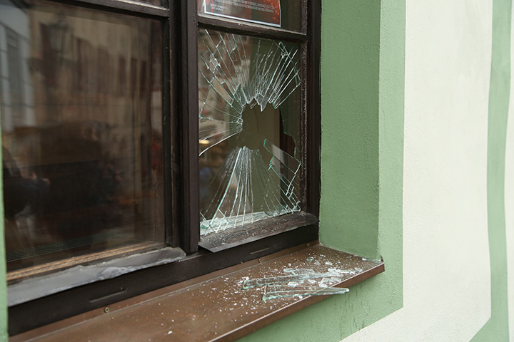A2B Glass are able to board up broken windows while they are being repaired in Newham.